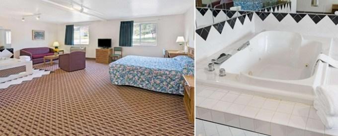 Whirlpool suite in Super 8 by Wyndham Canonsburg-Pittsburgh Area, Pensylvanya