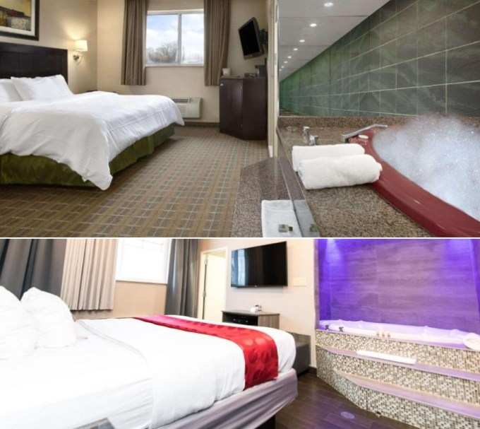 Jacuzzi suites in Ramada by Wyndham Bronx hotel, NY