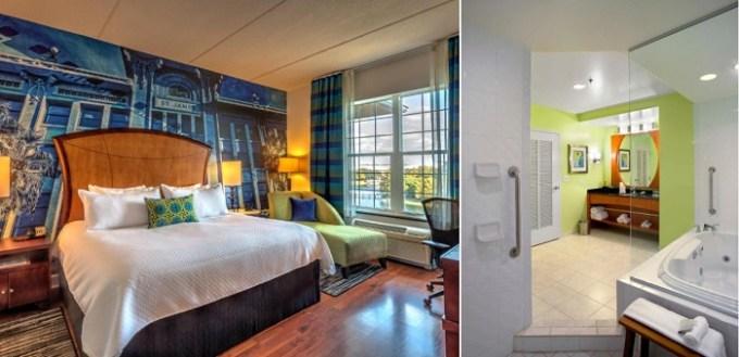 Jacuzzi suite in Hotel Indigo Jacksonville-Deerwood Park, Florida