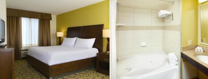 Suite with a hot tub in Hilton Garden Inn Tampa East-Brandon, Florida