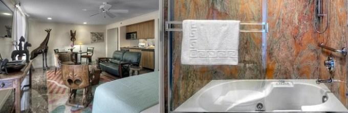 Jacuzzi suite in Dinah's Garden Hotel, Palo Alto, Bay Area, CA