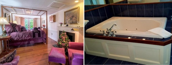 Jacuzzi suite in Hartwell House Inn at Ogunquit, Maine