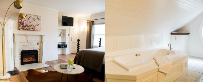 Suite with a two person jetted tub in Cedar Gables Inn, Napa, Bay Area, CA