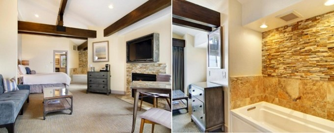 Suite with a two person jetted tub in Cypress Inn on Miramar Beach, Half Moon Bay, CA