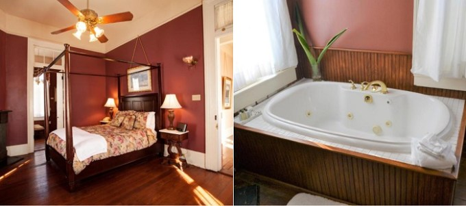A suite with Jacuzzi in Edgar Degas House Historic Home and Museum, New Orleans