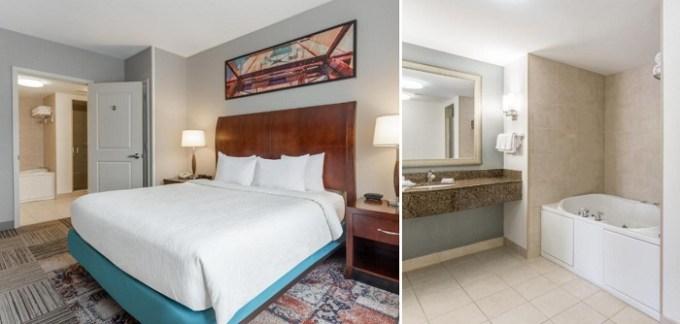 Jacuzzi suite in Hilton Garden Inn Albany-SUNY Area Hotel, NY