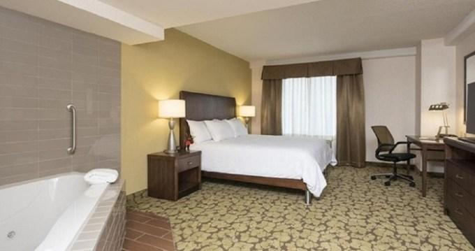 Jacuzzi suite in Hilton Garden Inn Louisville Downtown Hotel, KY