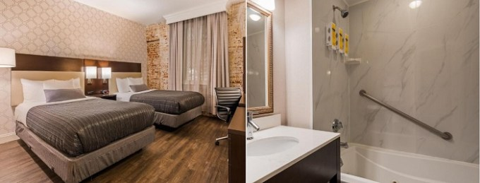 Room with a whirlpool tub in Best Western Plus St. Christopher Hotel, New Orleans