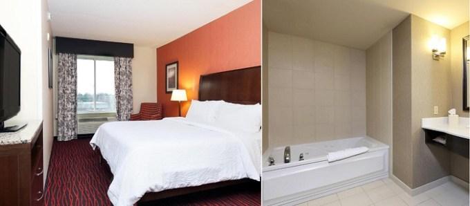 Suite with a hot tub in Hilton Garden Inn Clifton Park, near Albany, NY
