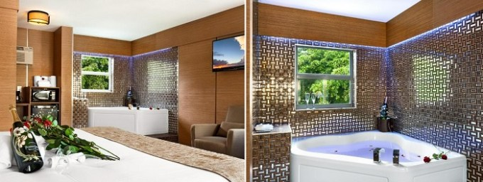 Honeymoon Suite with Jacuzzi in the room in Royal Beach Palace, Fort Lauderdale, Florida