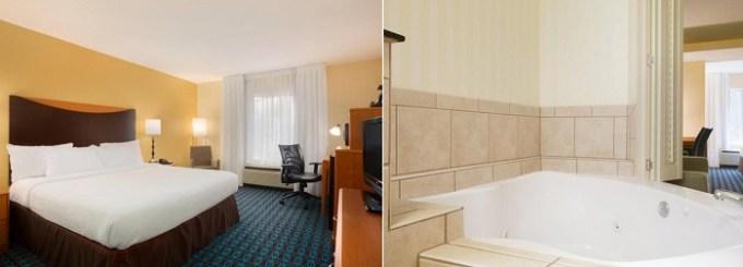 Jacuzzi suite in Fairfield Inn & Suites Columbia Northeast Hotel, SC