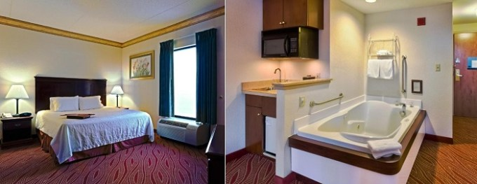 Room with Whirlpool in Hampton Inn Manheim Hershey Lancaster Hotel, PA