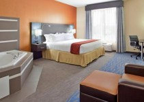 Room with a hot tub in Holiday Inn Express & Suites St Louis Airport, an IHG hotel, MO