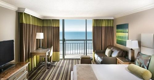 A Beachfront room in The San Luis Resort Spa & Conference Center, Galveston Island, Texas