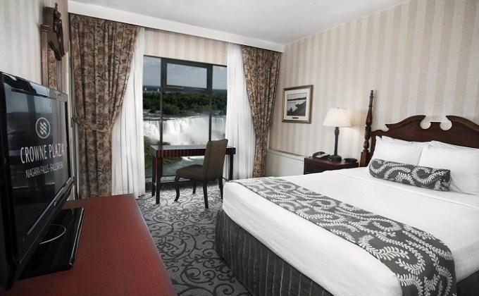 A Niagara Fall View Room in Crowne Plaza Niagara Falls-Fallsview, an IHG hotel