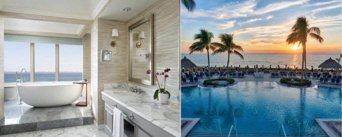 Beachfront hotel suite in The Ritz-Carlton, Sarasota, FL