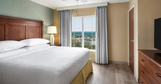 Beachfront suite in Embassy Suites by Hilton Destin Miramar Beach hotel, Destin, FL