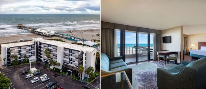 Beachfront suite in La Quinta by Wyndham Cocoa Beach Oceanfront
