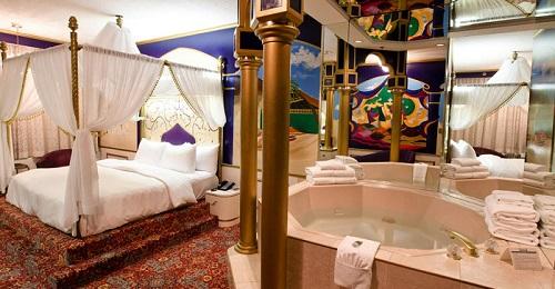 Hot Tub Suite in Fantasyland Hotel, Edmonton, Alberta