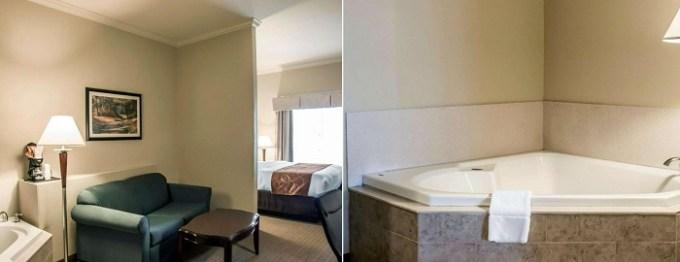 Hot tub suite in Comfort Suites Cincinnati North hotel, OH