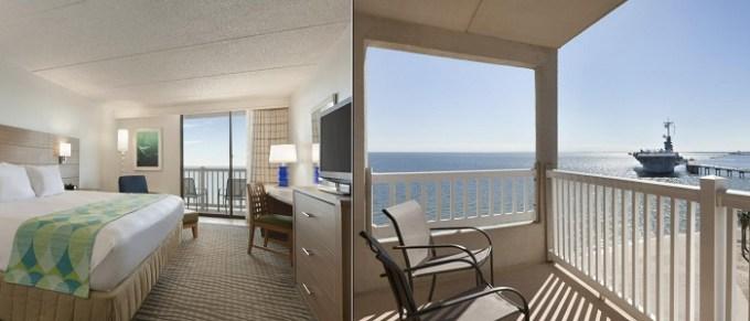 Oceanfront hotel suite in Radisson Hotel Corpus Christi Beach, Texas