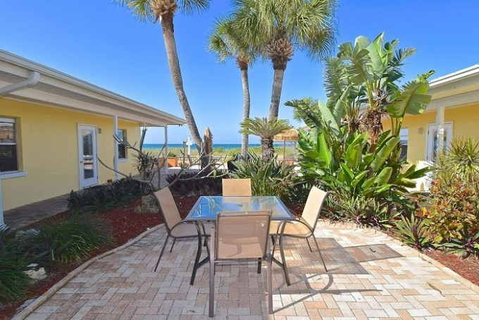The beachfront condo hotel A Beach Retreat on Casey Key, near Sarasota, Florida