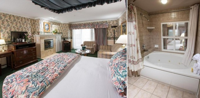 A Suite with a hot tub in the room in Ascot Suites, near Pismo Beach, CA