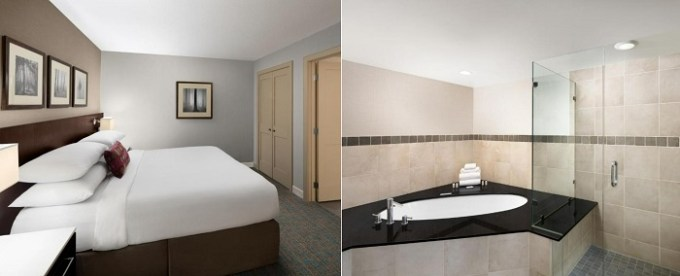 Jacuzzi suite in Delta Hotels by Marriott Calgary South, Alberta, Canada