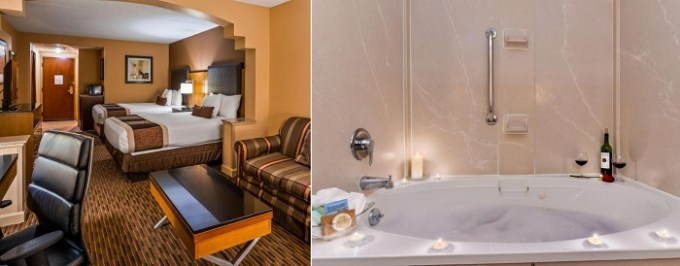 Suite with a Whirlpool in the room in Best Western Plus Greensboro-Coliseum Area, NC