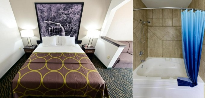 Suite with a Whirlpool in the room in Super 8 by Wyndham High Point-Greensboro, NC