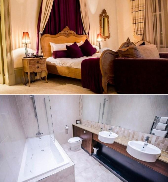 A room with a hot tub in Lynnhurst Hotel, near Glasgow, Scotland