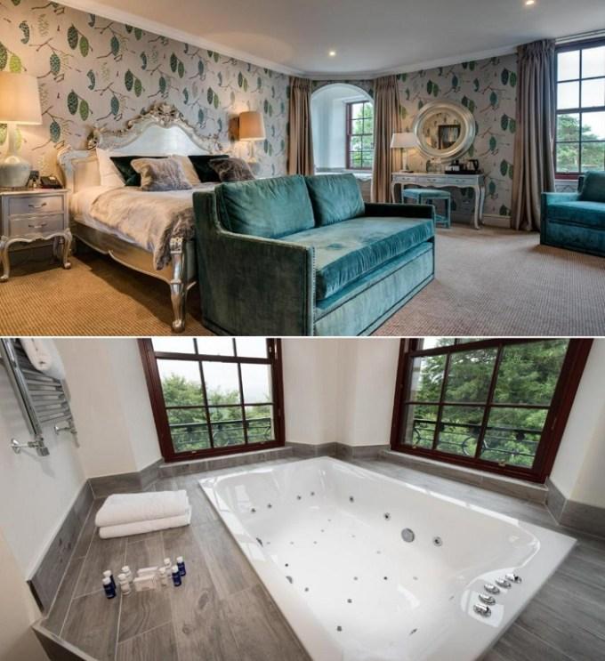 A suite with a hot tub in Gleddoch Hotel Spa & Golf, BW Premier Collection, near Glasgow, Scotland