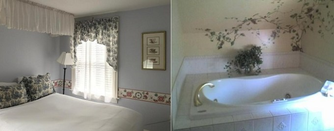 Hot tub suite in Cleveland House Inn, Newport, RI