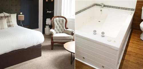 Hot tub suite in The Belhaven Hotel, Glasgow, Scotland