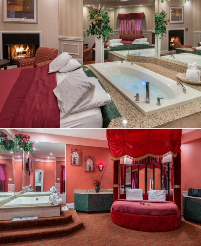 Jacuzzi suites with a fireplace in Inn of The Dove, near Philadelphia, PA