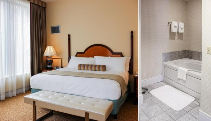 Suite with a whirlpool tub in Hotel Providence, Rhode Island