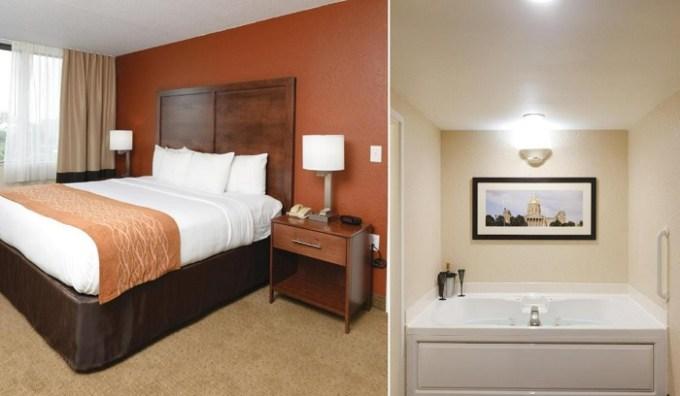 Whirlpool suite in Comfort Inn & Suites Event Center, Des Moines, IA