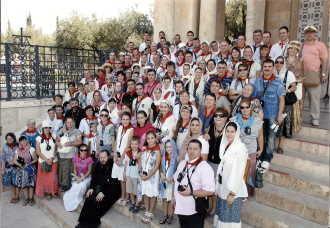 Credinciosii ortodocsi din Coslada in Tara Sfanta (Israel)