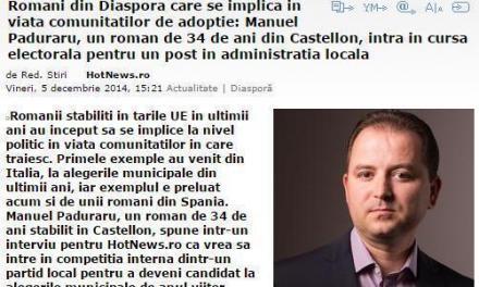Ales primul consilier român la primăria din Castellon