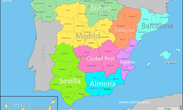 Harta consulatelor românești din Spania
