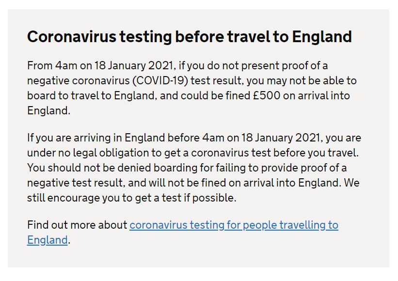 Marea Britanie impune testul negativ de Covid-19 la sosire