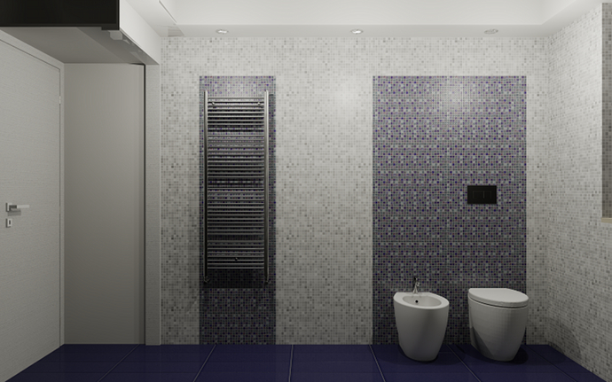 Bagno Moderno Mosaico Blu