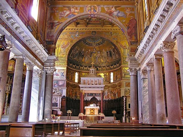 A basílica de Santa Maria em Trastevere
