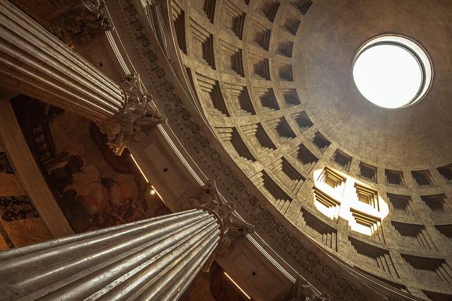 Detalhe cúpula da do Pantheon