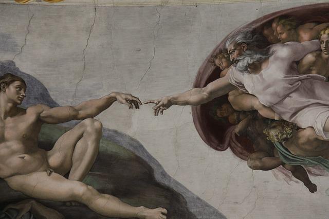 A Criação de Adão, pintura na Capela Sistina