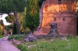 Ruínas na Via Appia em Roma