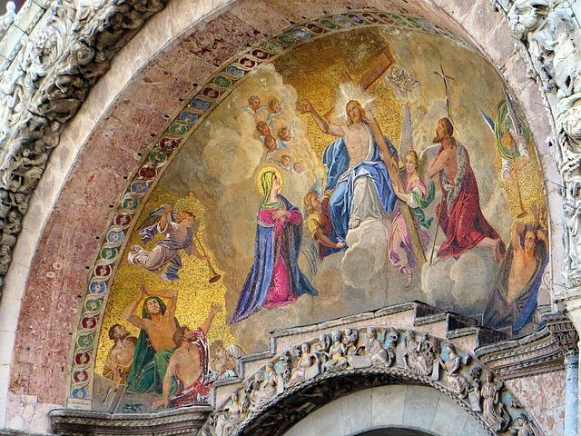 Detalhe do mosaico na Basílica de São Marcos