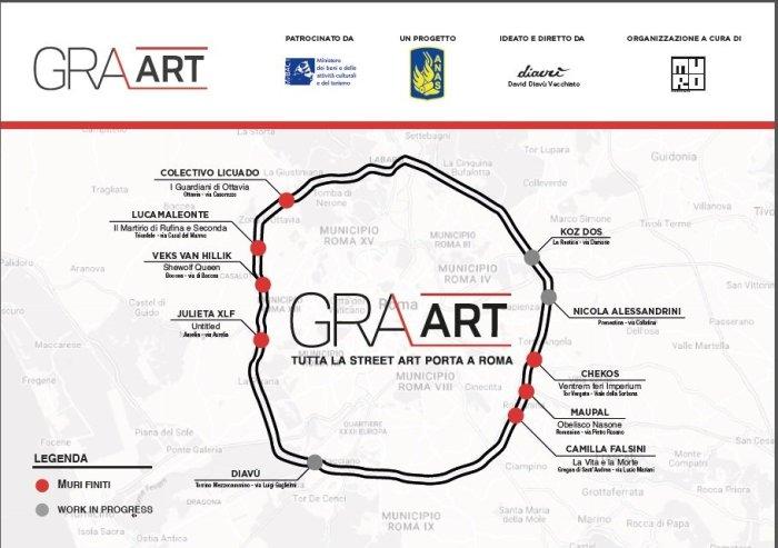 La mappa del GRAArt di Roma