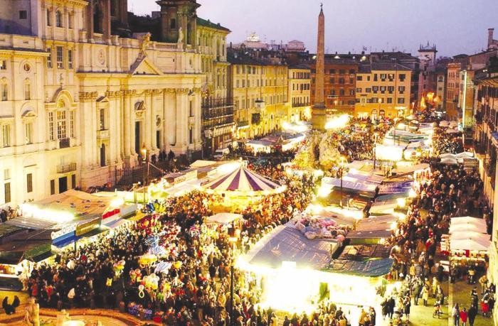 Mercatino di Natale di piazza Navona - Roma