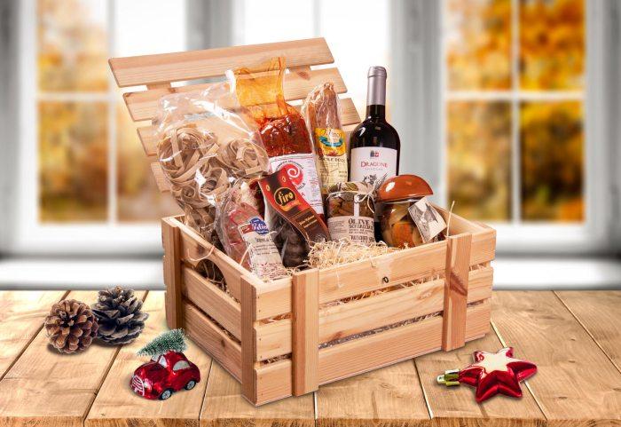 Cesti regalo di Natale con prodotti tipici